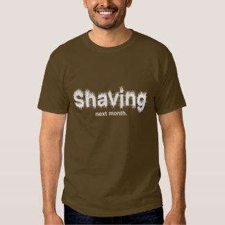 Afeitar el próximo mes la camiseta oscura básica remera