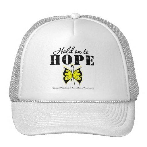 Aferrar de la prevención del suicidio a la esperan gorras de camionero