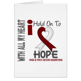 Aferrar del cáncer de cabeza y cuello I a la esper Felicitaciones