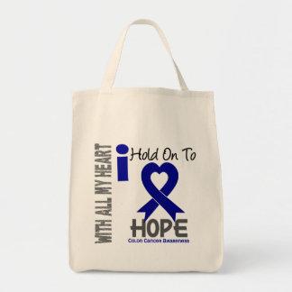 Aferrar del cáncer de colon I a la esperanza Bolsa Tela Para La Compra