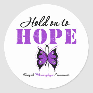 Aferrar del Fibromyalgia a la esperanza Pegatina Redonda