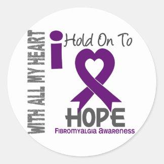 Aferrar del Fibromyalgia I a la esperanza Pegatina Redonda