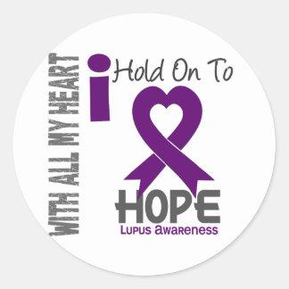 Aferrar del lupus I a la esperanza Etiqueta Redonda