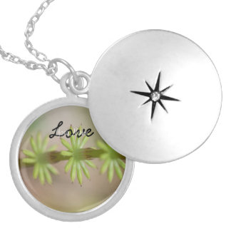 AFF Alaskan Forest Foliage Round Locket Necklace