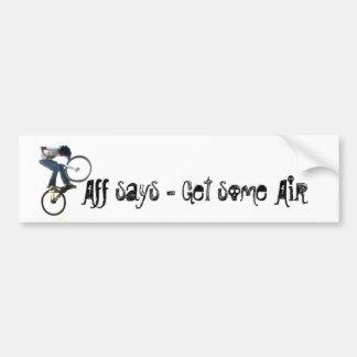 Aff dice - etiqueta de parachoque