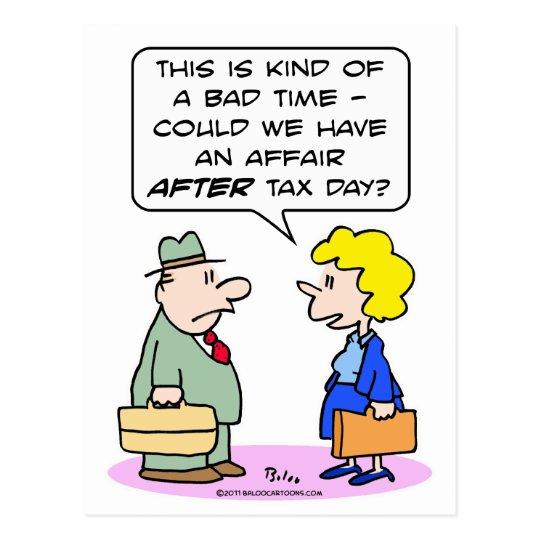affair after tax day sex postcard