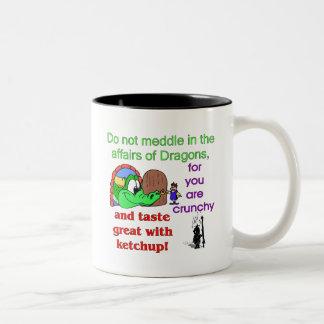 Affairs Of Dragons Two-Tone Coffee Mug