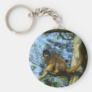 Affe auf dem Baum Schlüsselanhänger