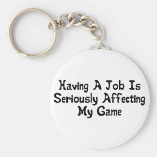 Affecting My Game Basic Round Button Keychain