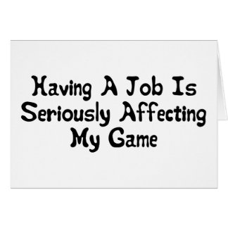 Affecting My Game Greeting Card