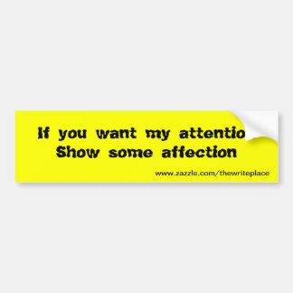 affection bumper stickers