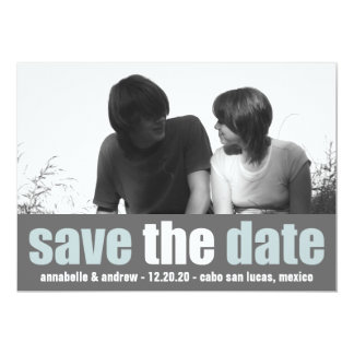 Affection Save The Date Announcement (Blue / Gray)