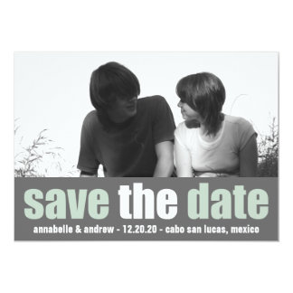 Affection Save The Date Announcement (Green/Gray)