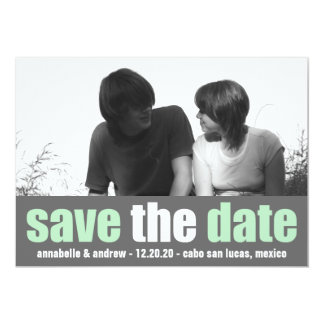 Affection Save The Date Announcement (Mint / Gray)