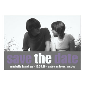 Affection Save The Date Announcement (Purple/Gray)