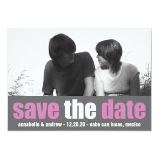 Affection Save The Date Announcement (Raspberry)