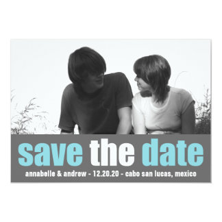 Affection Save The Date Announcement (Teal / Gray)