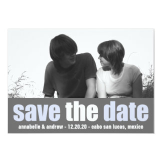 Affection Save The Date Announcement (Violet/Gray)