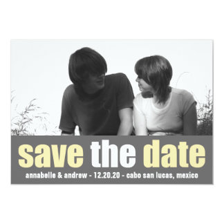 Affection Save The Date Announcement (Yellow/Gray)