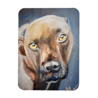 Affectionate Brown Dog Photo Magnet