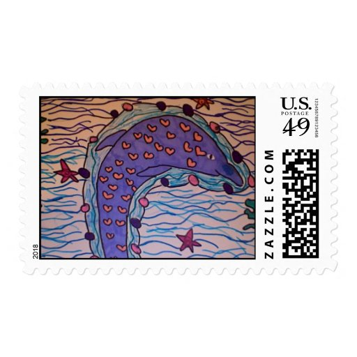 affectionate dolphin stamps