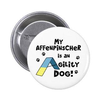 Affenpinscher Agility Dog Button