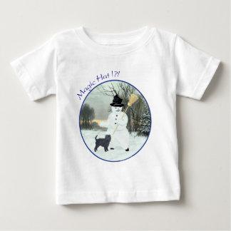 Affenpinscher and Snowman Baby T-Shirt