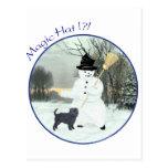 Affenpinscher and Snowman Post Cards
