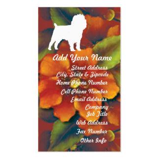 Affenpinscher Autumn Floral Business Cards