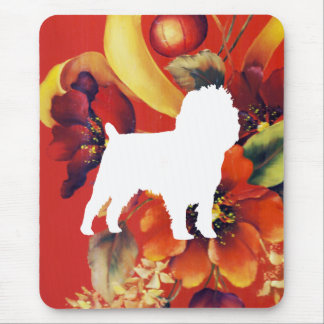 Affenpinscher Autumn Floral Mouse Pad
