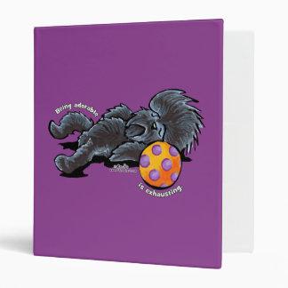 Affenpinscher Being Adorable Vinyl Binders