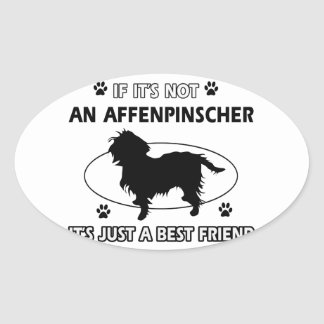 AFFENPINSCHER best friend designs Oval Sticker