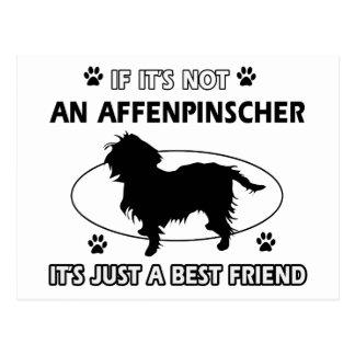 AFFENPINSCHER best friend designs Postcard