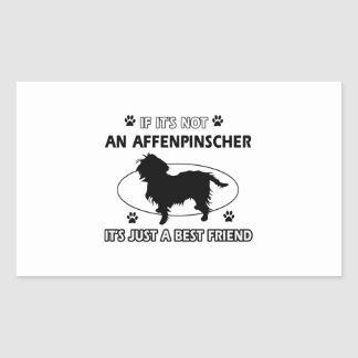 AFFENPINSCHER best friend designs Rectangular Sticker