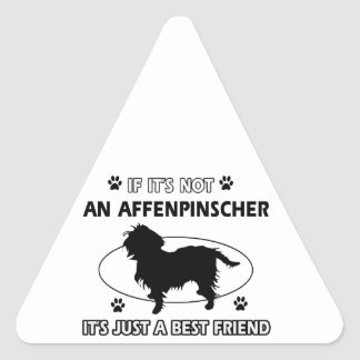 AFFENPINSCHER best friend designs Triangle Sticker