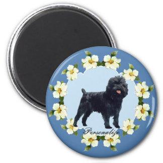 Affenpinscher & Blue Dogwood Magnet