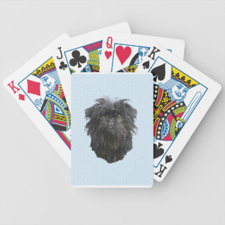 Affenpinscher Blue w/ White Diamonds Bicycle Playing Cards