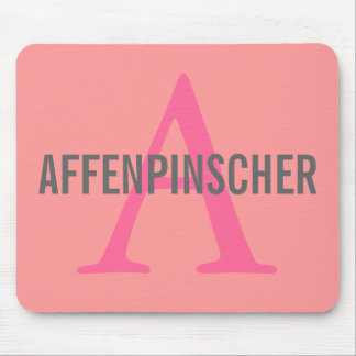 Affenpinscher Breed Monogram Design Mouse Pad