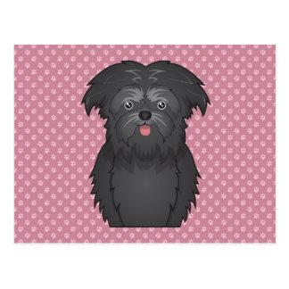 Affenpinscher Cartoon Postcard