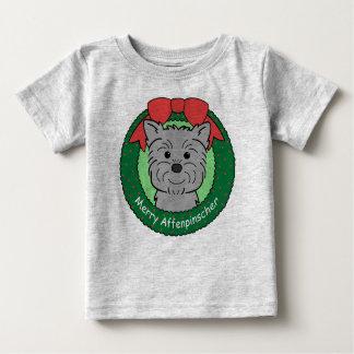 Affenpinscher Christmas Baby T-Shirt