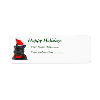Affenpinscher Christmas Gifts, Happy Holidays, ... Return Address Label