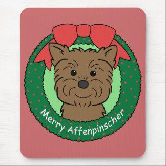 Affenpinscher Christmas Mouse Pad