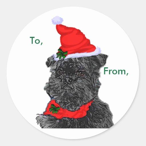 Affenpinscher Christmas Package Stickers