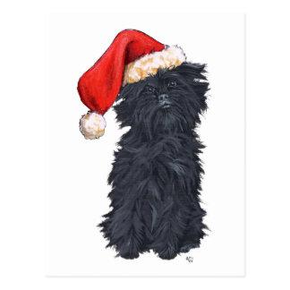 Affenpinscher Christmas Postcard