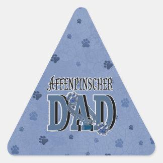 Affenpinscher DAD Triangle Sticker