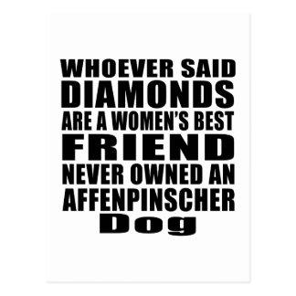 AFFENPINSCHER DOG BEST FRIEND DESIGNS POSTCARD