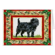 Affenpinscher Dog Blank Christmas Card