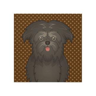 Affenpinscher Dog Cartoon Paws Wood Prints