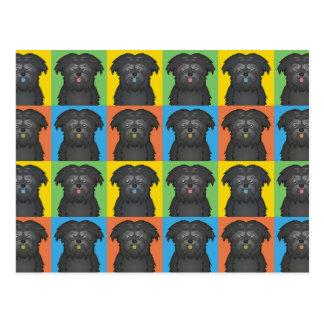 Affenpinscher Dog Cartoon Pop-Art Postcard