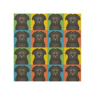 Affenpinscher Dog Cartoon Pop-Art Wood Canvas